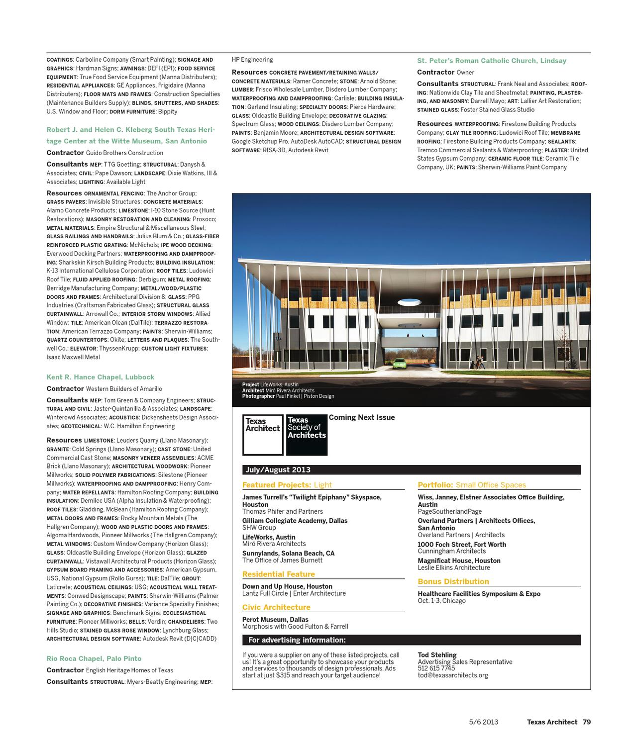 Texas Architect May June 2013 Preservation By Texas Society Of Architects Issuu