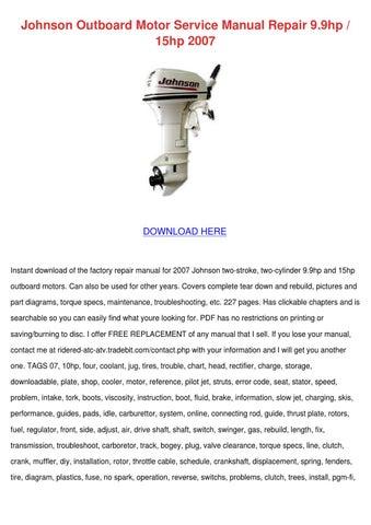 Johnson outboard motor service manual repair by hortensia for Johnson outboard motor maintenance