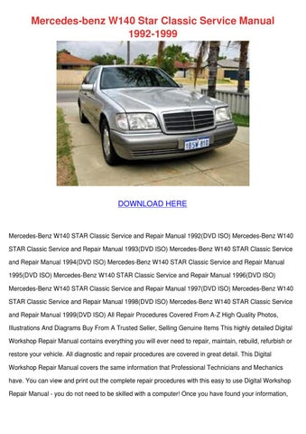 Mercedes benz w140 star classic service manua by hortensia rinehimer mercedes benz w140 star classic service manual 1992 1999 fandeluxe Choice Image