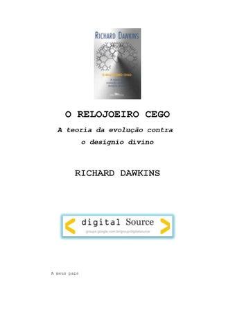 c4f75673c43 O Relojoeiro Cego by Taberna da História - issuu