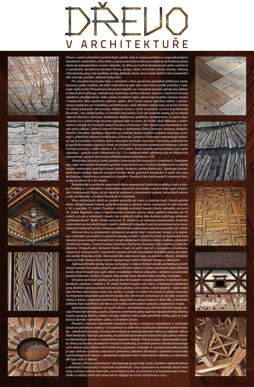 Datování na základě letokruhů je využíváno – stanovení stáří architektury na základě dřeva zabudovaného v hrázděných domech nebo stropech – datování.