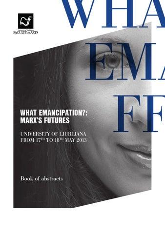 What Emancipationmarxs Futures By Znanstvena Zalozba Ff Issuu