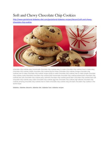 Soft and chewy chocolate chip cookies gestational diabetes soft and chewy chocolate chip cookies httpgestational diabetes diet gestational diabetes recipesdessertsoft and chewychocolate chip cookies forumfinder Choice Image
