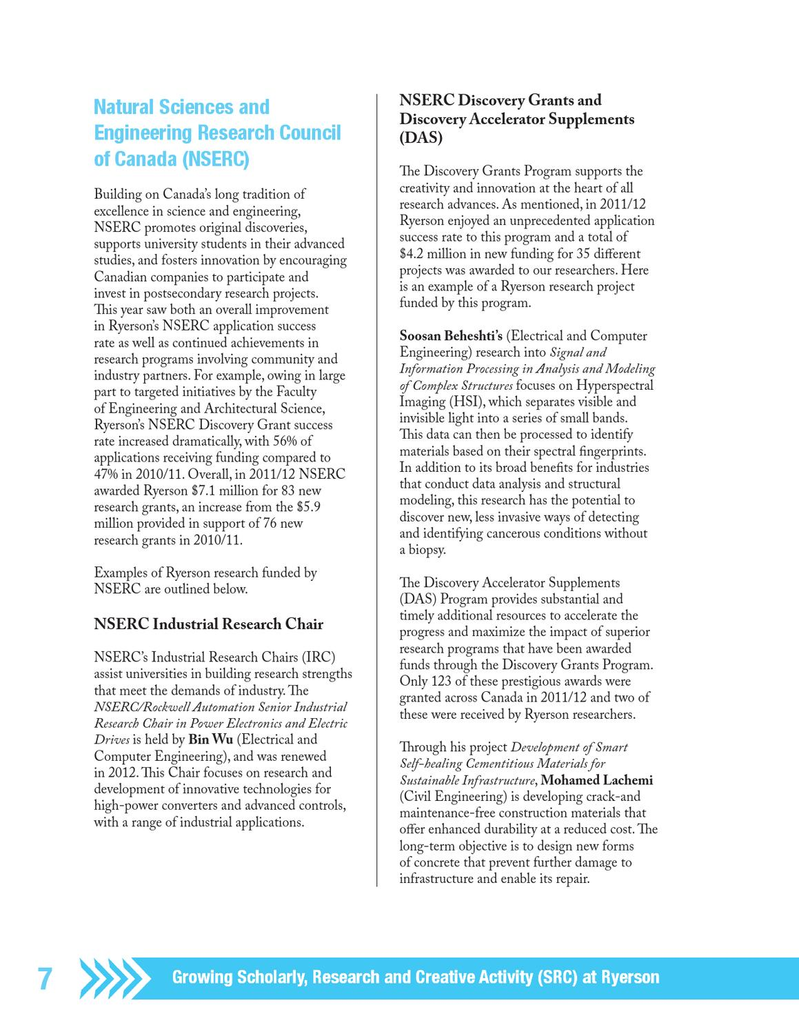 Ryerson Research and Innovation 2011-12 Annual Report by