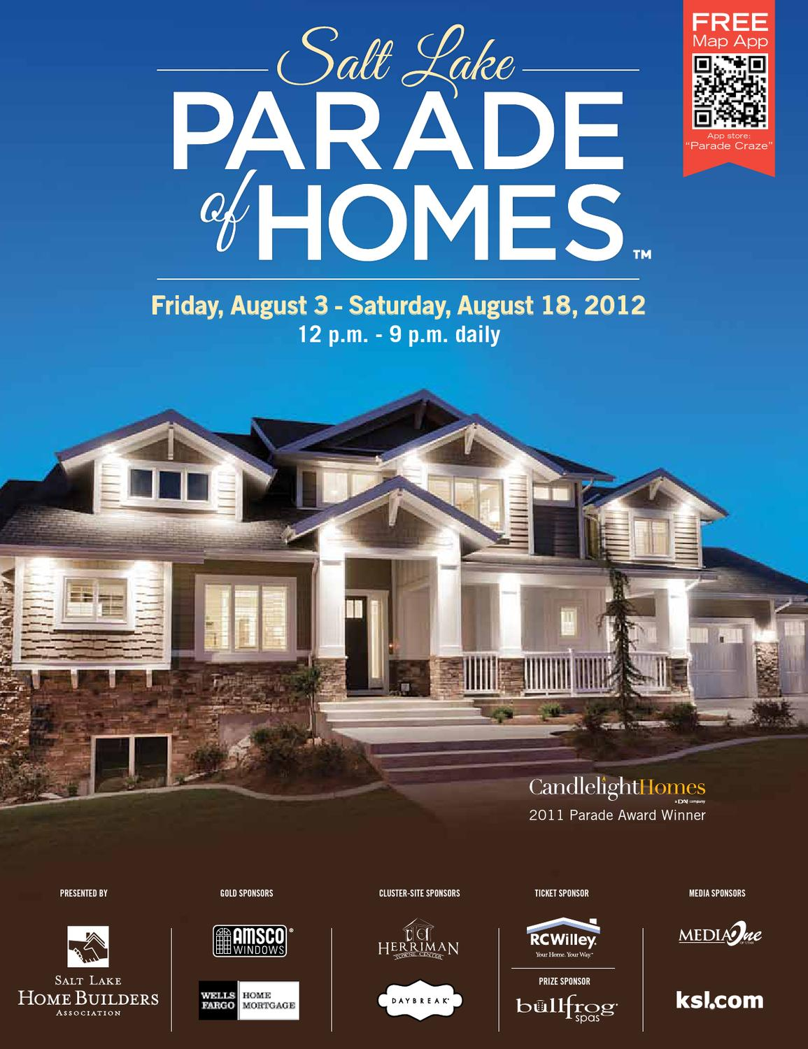 Salt lake parade of homes 2013 by utah media group issuu for Utah homebuilders