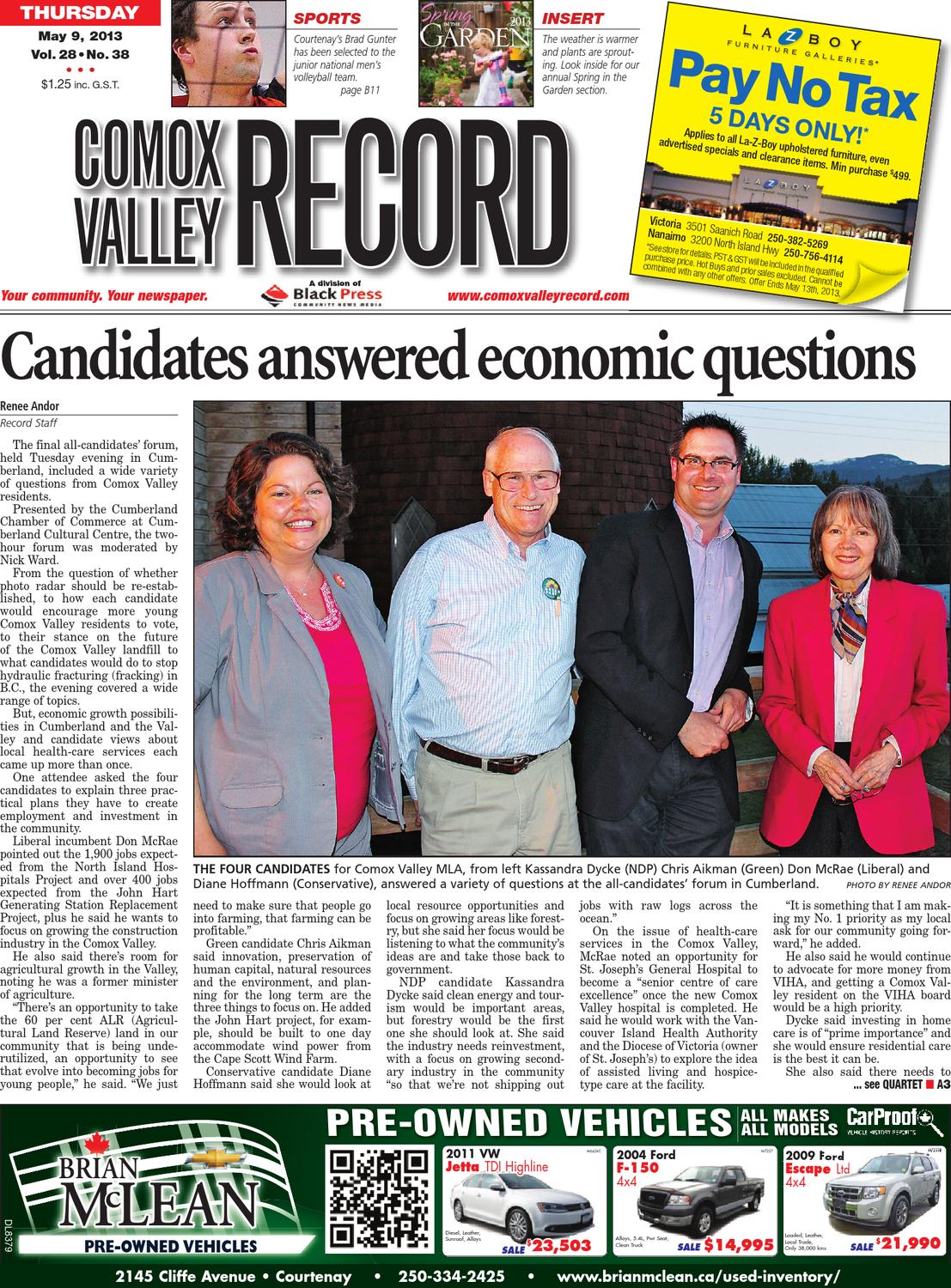 Comox Valley Record May 09 2013 By Black Press Issuu Products Of America 7893 Ip7893 7 Way Flat Pin Trailer Circuit Tester