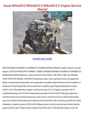 deutz bf4m2012 bf4m2012 c bf6m2012 c engine s by maricruz pascascio rh issuu com Bermuda Colonial Bermuda Fire and Marine