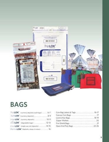 50 Deposit Bags 10 x 19 CoinLok clear