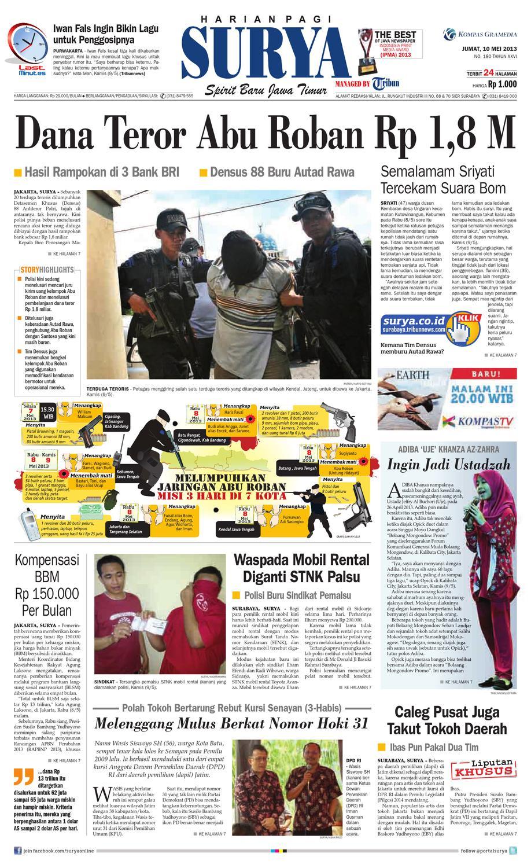 Surya E Paper 10 Mei 2013 By Harian SURYA Issuu