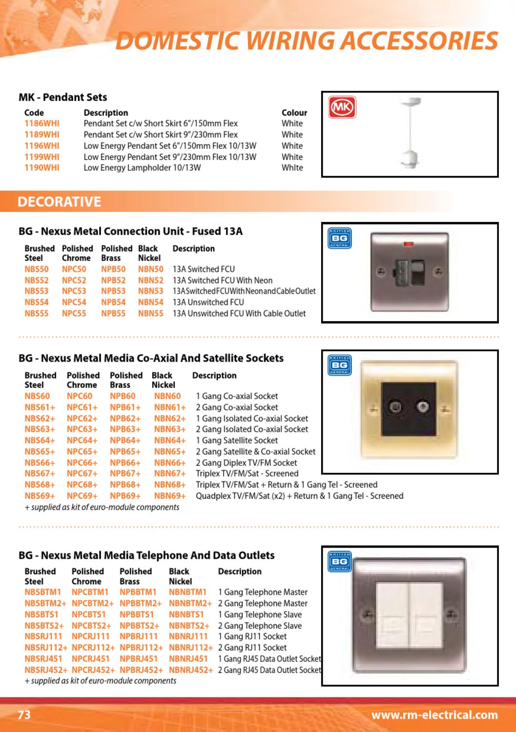 Rm Electrical Full Catalogue By David Bell Issuu Mk Wiring Accessories
