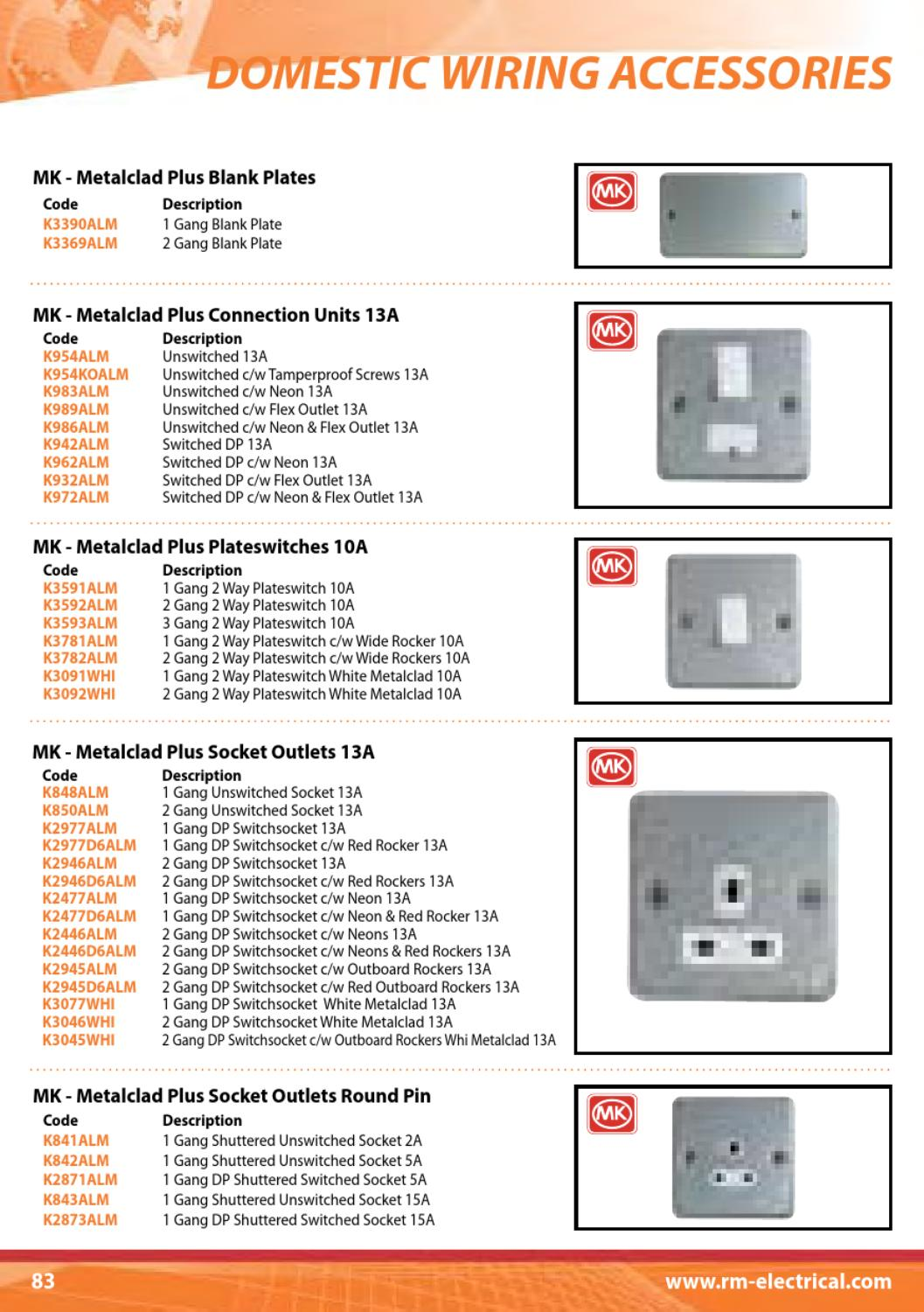Rm Electrical Full Catalogue By David Bell Issuu 2 Gang Outlet Wiring