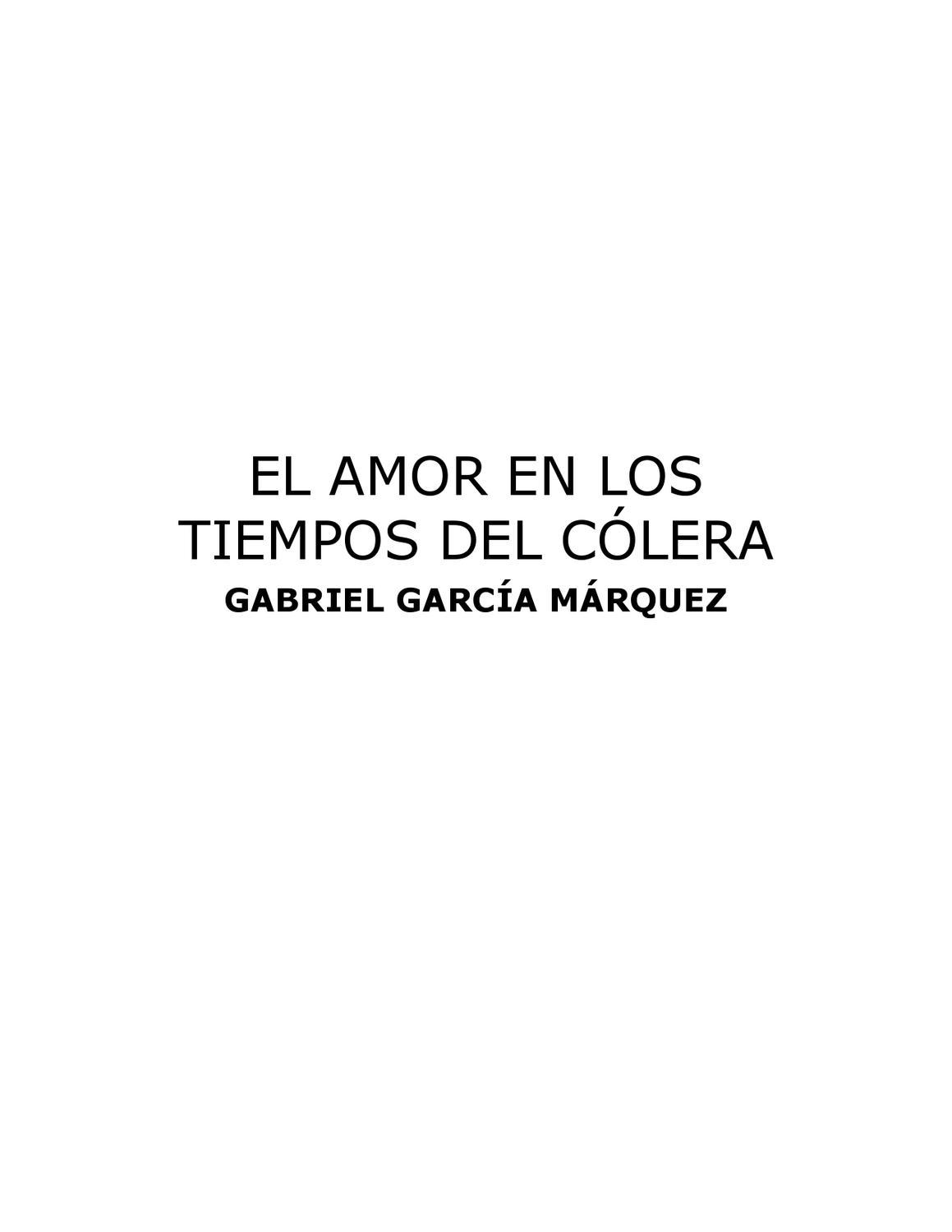 el amor en los tiempos del colera by Delia Castro Véliz - issuu