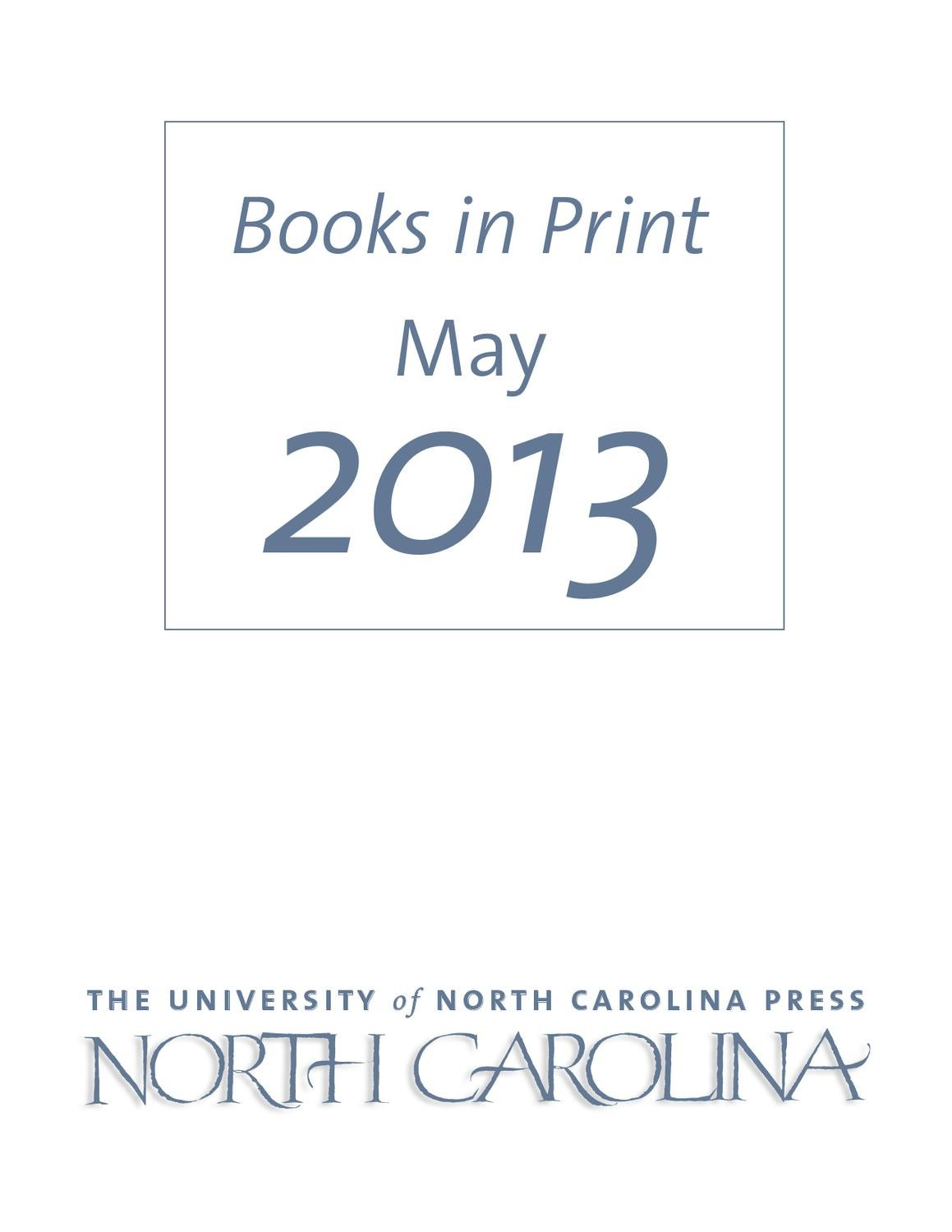 Unc press bip may 2013 by the university of north carolina press issuu fandeluxe Gallery