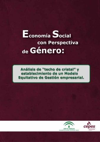 Economía Social con Perspectiva de Género  Techo de Cristal y Modelo  Equitativo de Gestión e423c1ce98d4