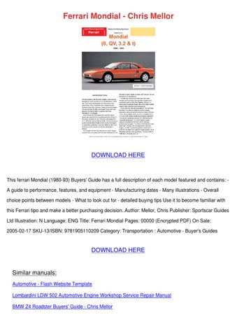 porsche 997 buyers guide pdf