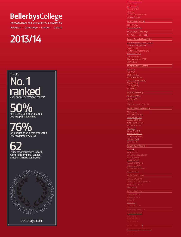 Bellerbys College 2013/2014 by Turkuaz Yurtdışı Eğitim