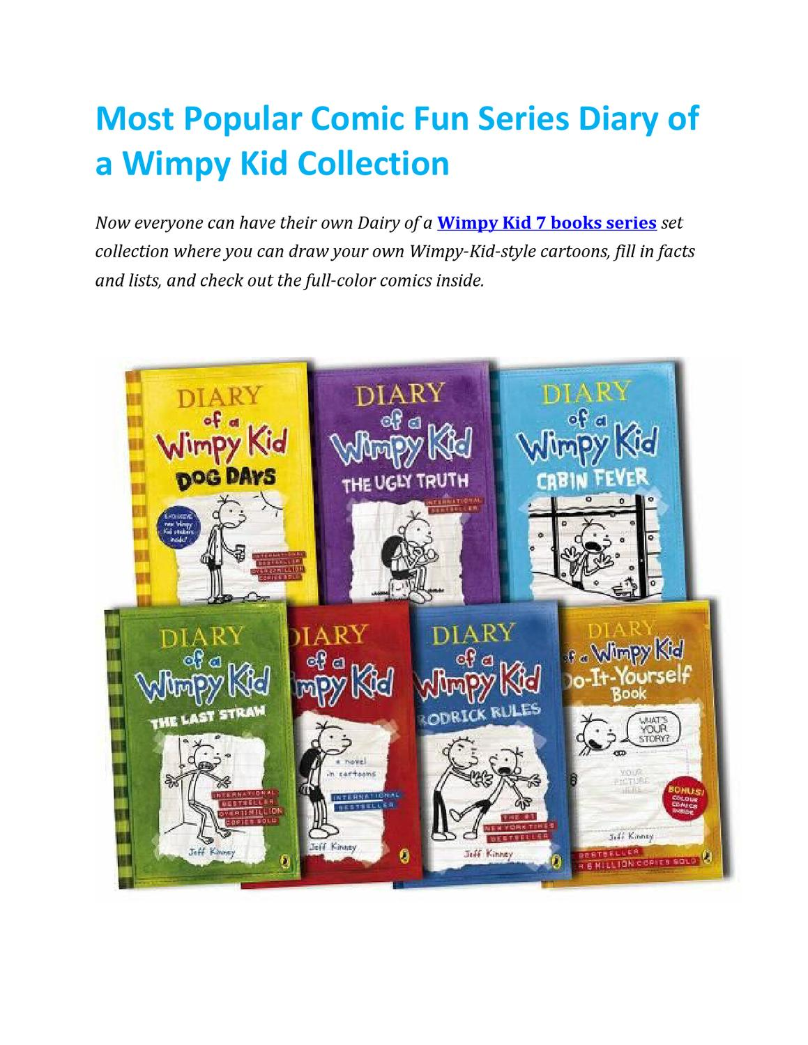 Most Popular Comic Fun Series Diary Of A Wimpy Kid Collection By Lowplex Books Issuu
