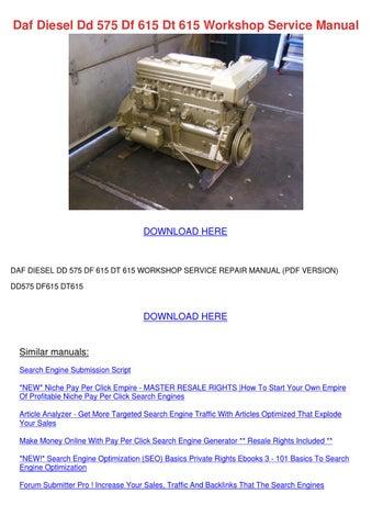 daf diesel dd 575 df 615 dt 615 workshop serv by princess smoley issuu rh issuu com Toyota Engine Diagram Toyota Wiring Diagrams