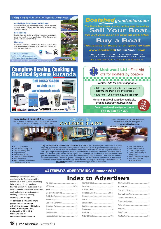 IWA Waterways Magazine Summer 2013 by The Inland Waterways