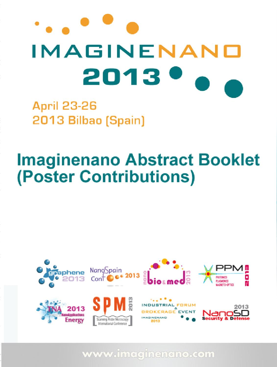 Imaginenano Abstract Booklet Poster Contributions Part I By Sam Yun Wan Hologram Wisdom Dan Hong Yuan Phantoms Foundation Issuu