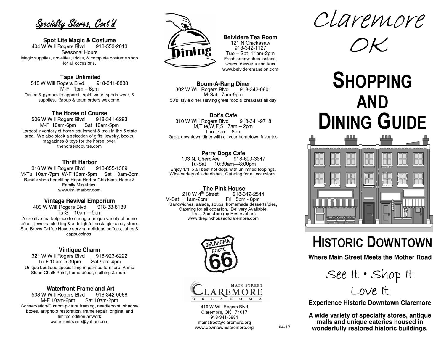 downtown claremore shopping guide by cindy bissett issuu