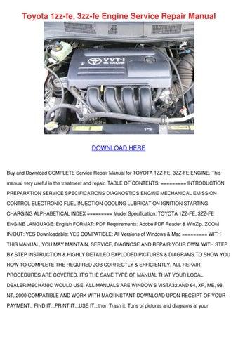1992 Toyota Corolla Repair Manual Pdf