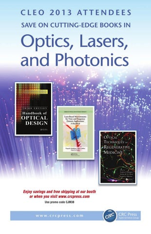 Optics lasers and photonics by crc press issuu enjoy savings and free shipping at our booth or when you visit crcpress use promo code cjm38 fandeluxe Gallery