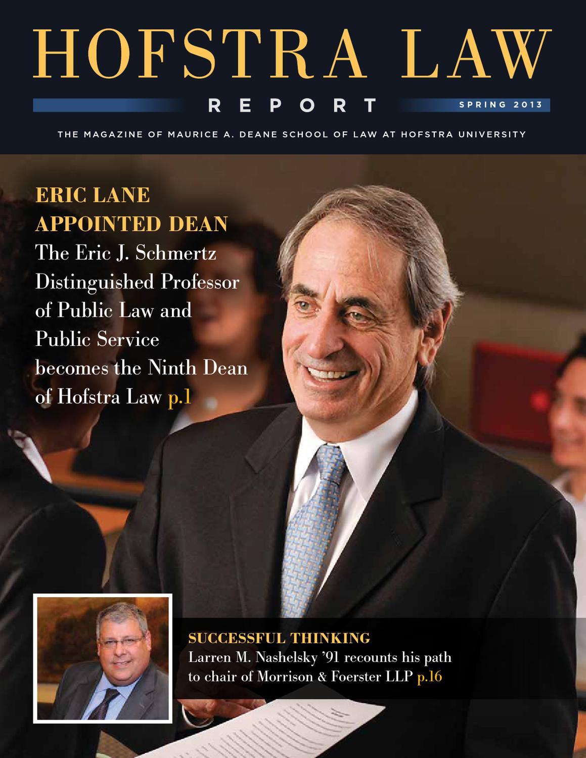 Elegant Hofstra Law Report, Spring 2013 By Hofstra Law School   Issuu
