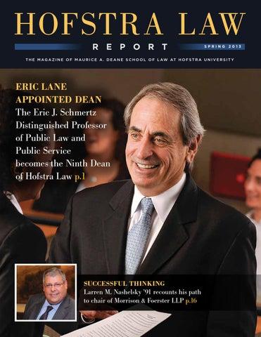 Good Hofstra Law Report, Spring 2013 By Hofstra Law School   Issuu