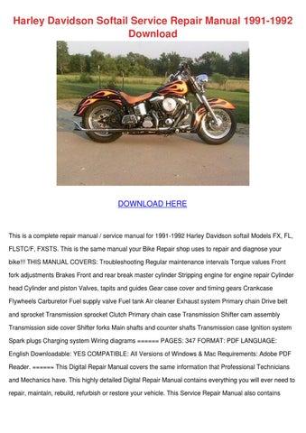 harley davidson softail 2008 2010 bike repair service manual