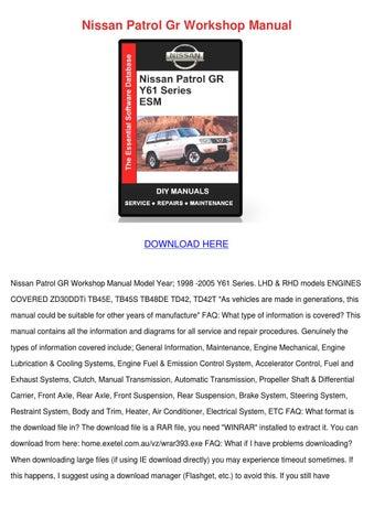Manual Download Td42 patrol