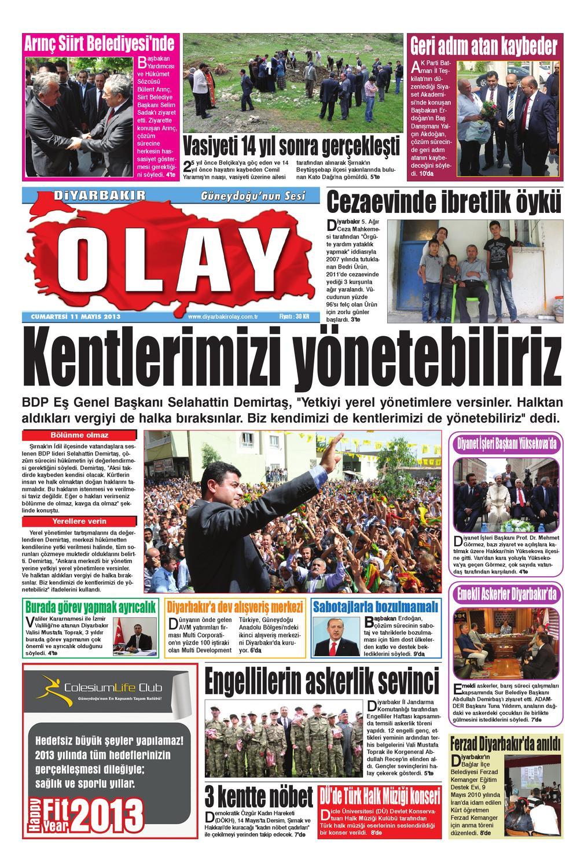 11 05 2013 Gazete Sayfalari By Diyarbakir Olaygazetesi Issuu