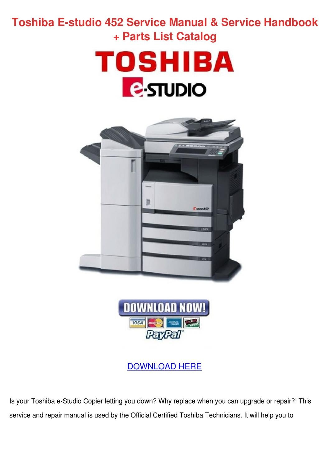 WRG-1757] Toshiba E Studio 450 Manual
