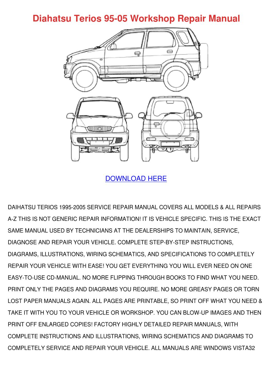 daihatsu sirion electrical diagram