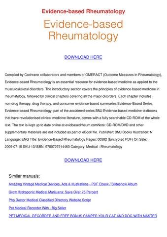 evidence based rheumatology by kera jodway issuu