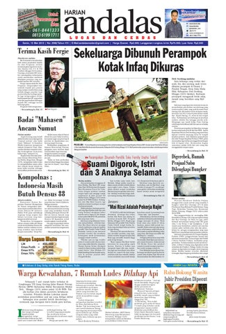 epaper andalas edisi senin 13 mei 2013 by media andalas - issuu 50543d11c2