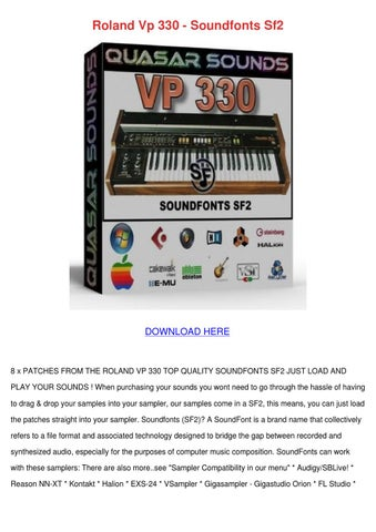 Roland Vp 330 Soundfonts Sf2 by Laquanda Snavely - issuu