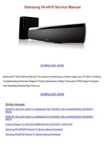 Samsung Ht X810 Service Manual