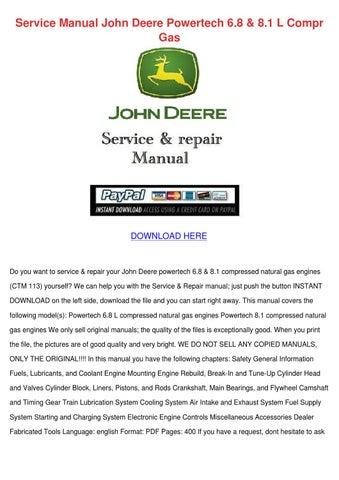 service manual john deere powertech 68 81 l c by laquanda snavely