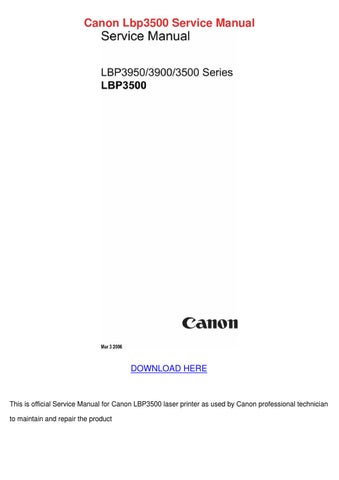 canon lbp3500 service manual by carlota granato issuu rh issuu com Canon iP5000 Ink Canon iP5000 Ink