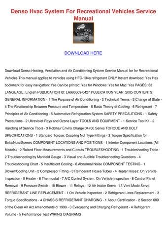 denso hvac system for recreational vehicles s by carlota granato issuu rh issuu com Robinair AC Machine Robinair AC Machine