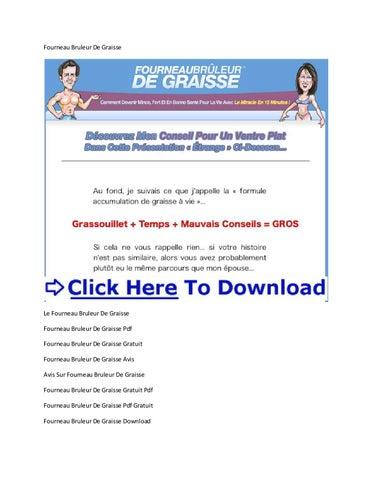 fourneau bruleur de graisse pdf gratuit