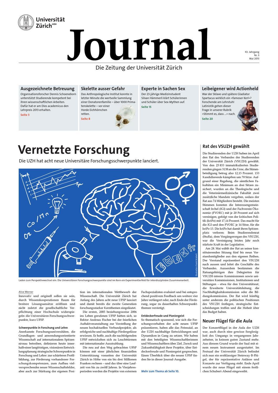 UZH Journal 3/13 by University of Zurich - issuu