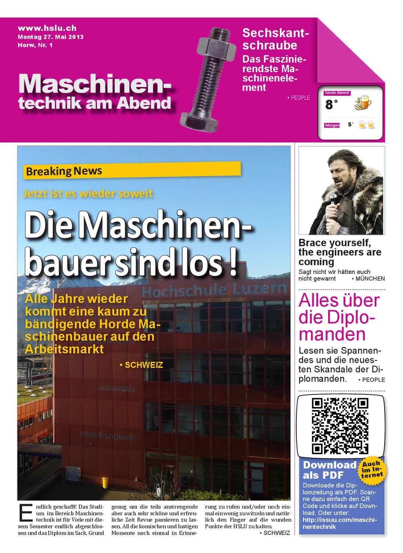 Maschinentechnik am Abend by Diplomzeitung Maschinentechnik - issuu