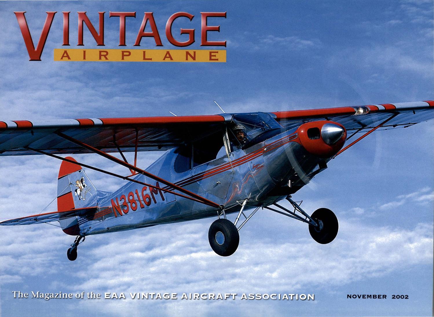 VA-Vol-30-No-11-Nov-2002 by EAA Vintage Aircraft Association