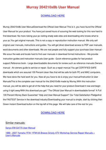 Murray 204210x8b User Manual by Genia Guziak - issuu