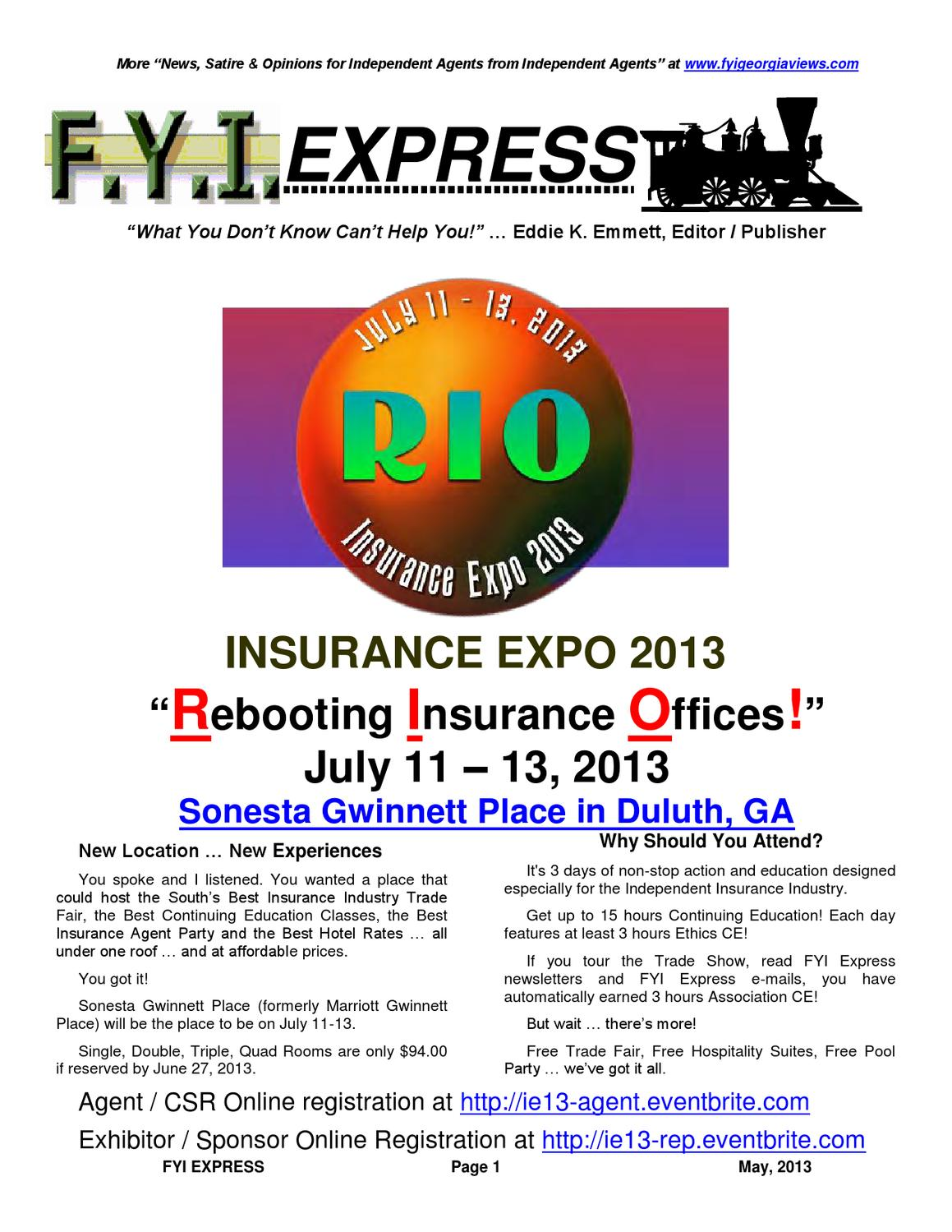 Fyi Express May 2013 By Fyi Express Issuu
