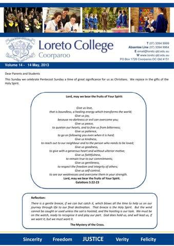 d5df4d560da14 14 May 2013 by Loreto College Coorparoo - issuu