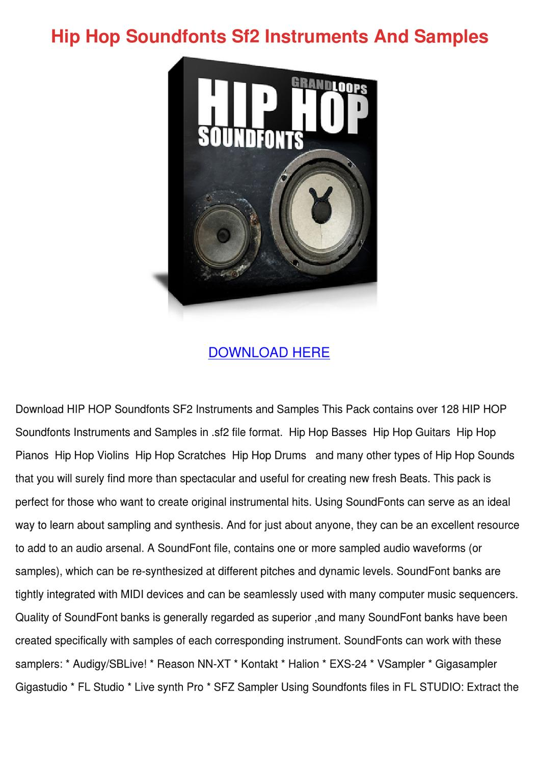 Hip Hop Soundfonts Sf2 Instruments And Sample by Reda Mccrady - issuu