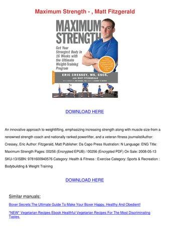 Eric cressey max strength pdf